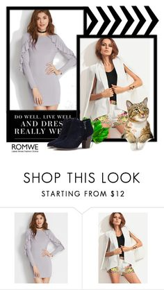 """Romwe XIV/5"" by minka-989 ❤ liked on Polyvore featuring romwe"