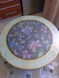 Купить Ручная авторская роспись мебели. - оливковый, ручная авторская работа, ручная роспись, цветы