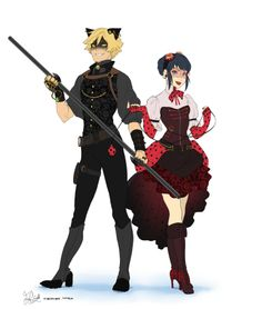 Miraculous Ladybug Steampunk AU, anyone?