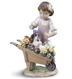 "Lladro figurin, ""Let's go for a ride"". Porcelain Dolls For Sale, Porcelain Dolls Value, Porcelain Jewelry, China Porcelain, Biscuit, Polymer Clay Dolls, Ceramic Animals, Pottery, Ceramics"