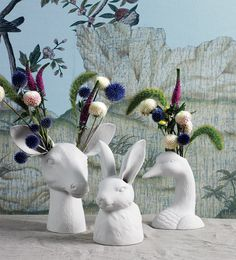 These Cholet Hollow Vases are an alternative way to do flowers at the table.