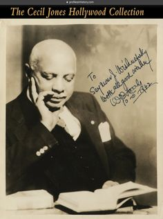 """W. C. Handy - Signed photograph. (1942) Vintage original gelatin silver 8 x 10 in. photograph inscribed and signed,""""To Seymour J. Wishnefsky With all good wishes W. C. Handy 10-5-1942"""". NOTE: This signed photo also cam with a vintage typed letter signed by W. C. Handy."""