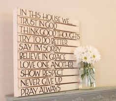 Inspirational Pallet Wall Art