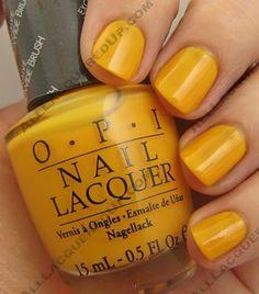 Mustard yellow nail polish