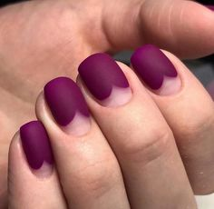 Fashion matte nails Half-moon nails ideas Hardware nails Ideas of matte nails Matte nails Matte short nails Nails ideas 2020 Original moon nails Nail Art Designs, Short Nail Designs, Nails Design, Matte Nails, Gel Nails, Purple Nails, Nail Nail, Black Nails, Matte Black
