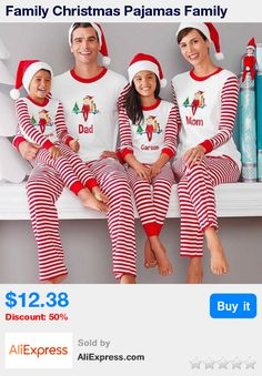 Family Christmas Pajamas Family Matching Clothes Matching Mother Daughter  2017 Fashion Father Son Mon New Year Family Look Sets-in Family Matching  Outfits ... 1b8a52c9e
