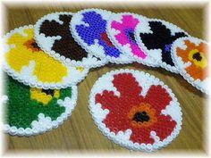 Marimekko coaster set perler beads by Mariko
