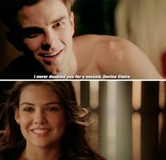 The Vampire Diaries and The Originals ... Nathaniel Buzolic and Danielle Campbell as Kol and Davina ... I never doubted you for a second <3