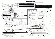 Graphic notation of Momentum (1973) by Leon Schidlowsky.