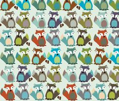 FOX TAILS fabric by petunias on Spoonflower - custom fabric...THIS MAY BE MY FAV!!!!