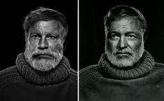 Sandro Miller, Yousuf Karsh / Ernest Hemingway (1957), 2014 Portraits of John Malkovich