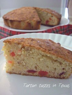 Tartan tastes in Texas -  Delicious Cherry Cake, great at Christmas or anytime of the year