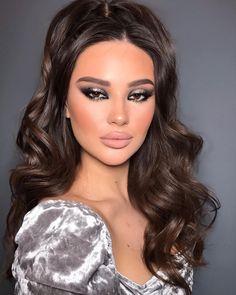 Simple Makeup Looks, Makeup Eye Looks, Creative Makeup Looks, Bridal Makeup Looks, Cute Makeup, Skin Makeup, Beauty Makeup, Hair Beauty, Aesthetic Hair
