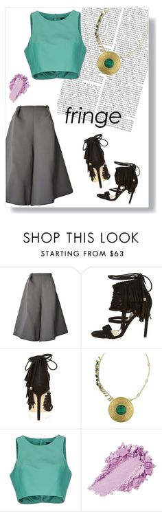 """""""Polyvore Contest: Fringe"""" by nbeaudry on Polyvore featuring River Island, 1928, TIBI, fringe and cullotes"""