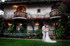 Beautiful mediterranean hacienda in the middle of the mountains of Puerto Rico. Emily & Orlys Wedding @ Hacienda Siesta Alegre