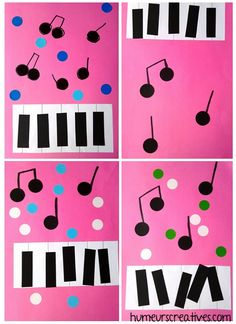 Diy Paper, Paper Crafts, Holiday Program, Music Crafts, Music And Movement, Music For Kids, Naive Art, Piano Lessons, Cool Designs