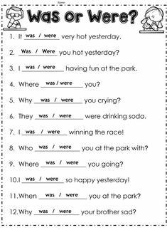 English Grammar For Kids, English Grammar Tenses, Learning English For Kids, Teaching English Grammar, English Worksheets For Kids, English Lessons For Kids, Kids English, English Writing Skills, English Vocabulary Words