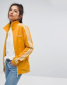 adidas Originals Track Jacket In Yellow - Yellow