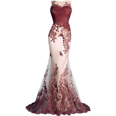 satinee.polyvore.com - Tony Chaaya Couture 2016 ❤ liked on Polyvore featuring dresses and gowns