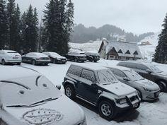 Happy cars :) lots of snow at Pestera Hotel