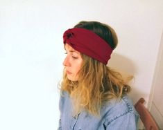 This item is unavailable Turban Style, Elastic Headbands, Your Hair, Upcycle, Comfy, Deep, Warm, Cool Stuff, Stylish