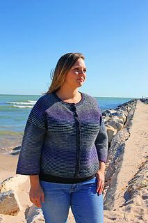 8f5f44a326addd Ravelry  Beverly Cardigan pattern by Sally Brandl Loom Yarn