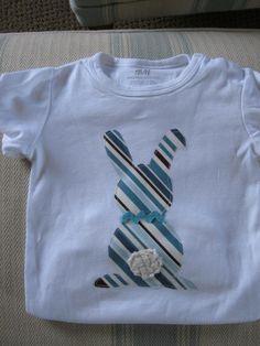 Short or Long sleeved boys Easter bunny applique onesie or short sleeved tee shirt. $ 18.00, via Etsy.