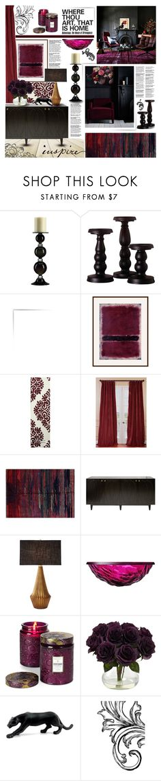 """Damask"" by kumi-chan ❤ liked on Polyvore featuring interior, interiors, interior design, home, home decor, interior decorating, Cyan Design, John Lewis, Burke Decor and EFF"