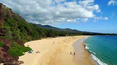 Makena Beach State Park. Had our picture taken on the beach with a Parrot on our shoulders. Had postcards made of this and sent them to our family back in Utah