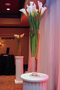 Tall Calla Lilies alter decor.