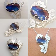 @marafriedland Exciting afternoon in the studio! I completed wildflowers series Penstemon pendant necklace -The photos do not do justice to the gorgeous boulder opal , but I'm really excited about this series