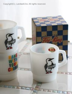 [Fire-King Booby Mug] CHUMS Online Shopping