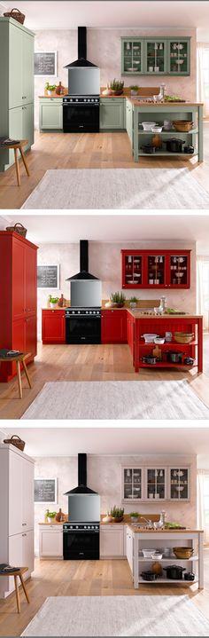 Tolle Landhausküche In Verschiedenen Farben