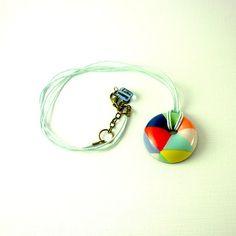 Hollow light pendant Colorful doughnut by ArtStudioKatherine