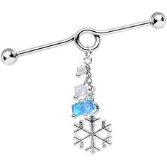 Body Candy Handcrafted Snowflake Coil Industrial Barbell Created with Swarovski Crystals 40mm Body Candy http://www.amazon.com/dp/B00Q78VG7A/ref=cm_sw_r_pi_dp_7kGewb0TF71C5