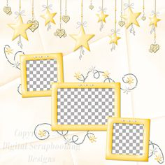 "Layout QP 6D-4 CAFS…..Quick Page, Digital Scrapbooking, Catch A Falling Star Collection, 12"" x 12"", 300 dpi, PNG File Format"