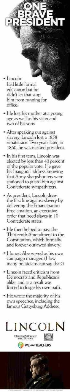 Abraham Lincoln was one Brave President and a Great Man. Why can't we elect presidents and representatives like him? I think America and the world would be a much better place. I LOVE LINCOLN! American Presidents, American Civil War, American History, Greatest Presidents, Black Presidents, History Facts, World History, History Quotes, Texas History