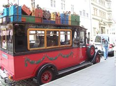 Queen of Christmas Presents.  I love this gift truck from Germany - see Kathe Wohlfahrt, the world famous Christmas store.