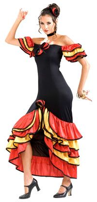 Cinco de Mayo Costumes Adult Spanish Lady Costume - Mexican or Spanish Costumes