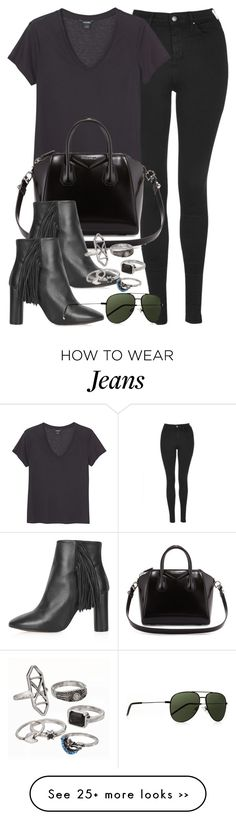 """Style #9197"" by vany-alvarado on Polyvore featuring Topshop, Monki, Givenchy, Yves Saint Laurent and Mudd"