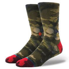 Thanks to its fresh camo, Stance's Dunn has the unique ability to blend in or stand out. Magic? Maybe. For an especially smooth ride, this premium athletic sock sports luxurious combed cotton. A reinforced heel and toe offer additional cushioning and durability while mesh vents keep feet cool. The Dunn's self-adjusting cuff ensures the sock stays snugly in place and its elastic arch provides plenty of support to keep you going. $12