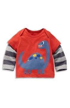 Mini Boden Layered Sleeve T-Shirt (Infant) | Nordstrom
