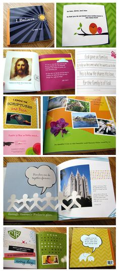 """Baptism gift for the kids.  """"Scripture Scraps"""" book (my testimony in a book)  This mom put her testimony in shutterfly book to give to her children when they got baptized.  So sweet!"""