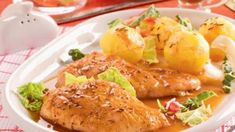 Chicken Wings, Baked Potato, Potato Salad, Potatoes, Meat, Baking, Vegetables, Ethnic Recipes, Potato