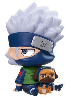 Naruto Shippuden tirelire avec figurine ChimiMega Kakashi and Packun Megahouse