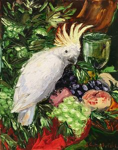'Cockatoo' by Sofia Goloubetski, Oil on Canvas, 40cmx30cm
