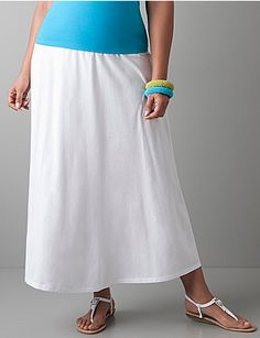 Versatile and always in style, the knit maxi skirt gives you a flowing, feminine look that won't sacrifice comfort. The wide elastic waistband offers slimming waist definition and a relaxed fit. Trendy long length is fashionable day or night. sonsi.com