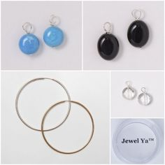 Hoop Earring & Drop Set #turquoise #blackonyx #crystalquartz #gemstones #giftsets #summersets #summer www.jewelya.com