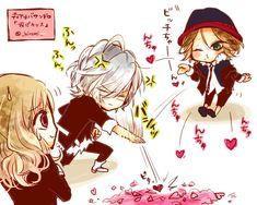 anime   chibi   cute   diabolik lovers   dialovers   kawaii   laito   pixiv id 263917   pixiv member: hiromi   subaru   yui