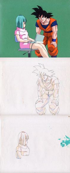 Dragon Ball, Z and GT  Anime series and movies  Dragon Ball Animation Cels  Shuusei Genga  Douga  and Roughs  Web collection  edited with Adobe Photoshop.  provided by: www.kamisama.com.br